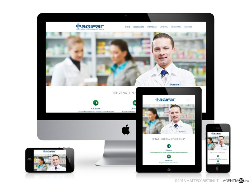 Sito web Associazione Giovani Farmacisti Brescia