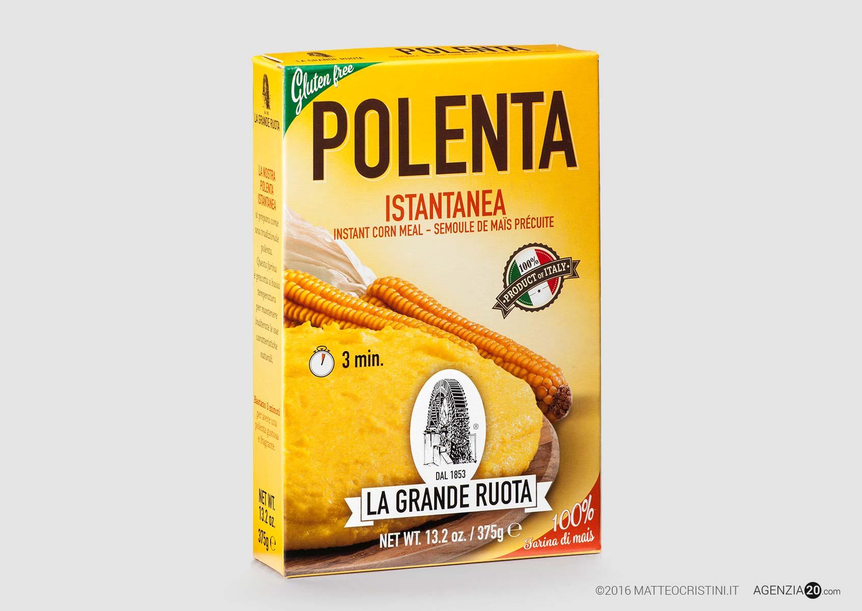 Astuccio di farina per polenta istantanea